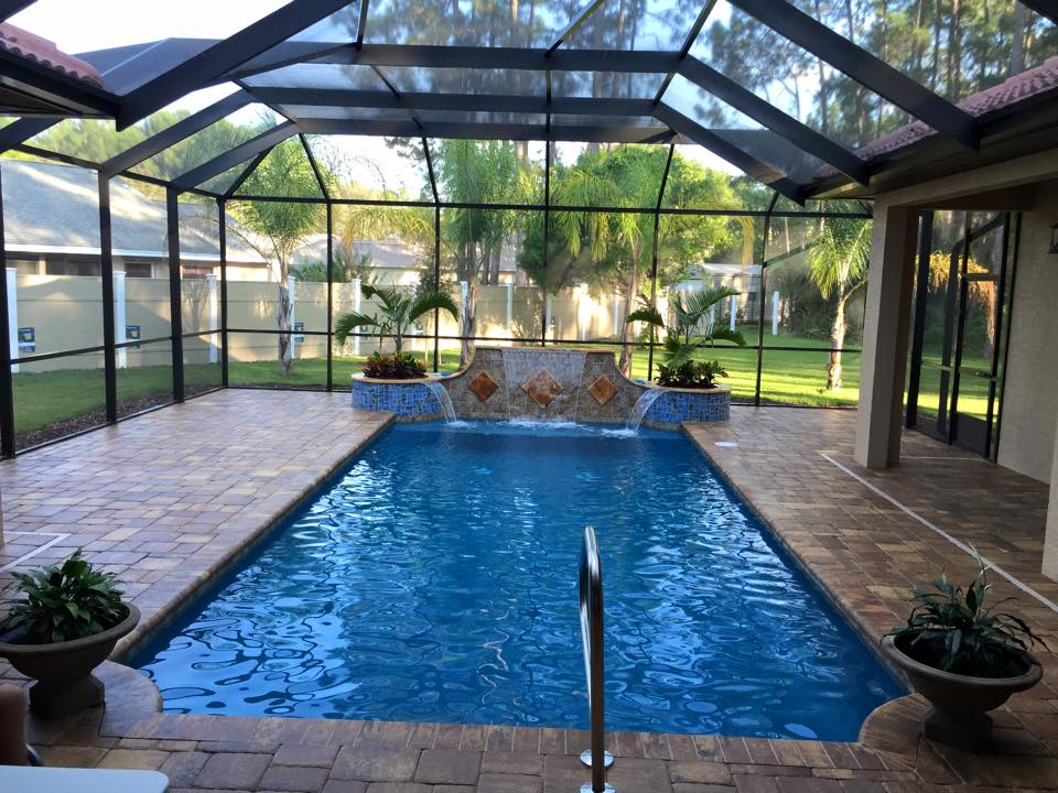 Full front shot of entire pool.