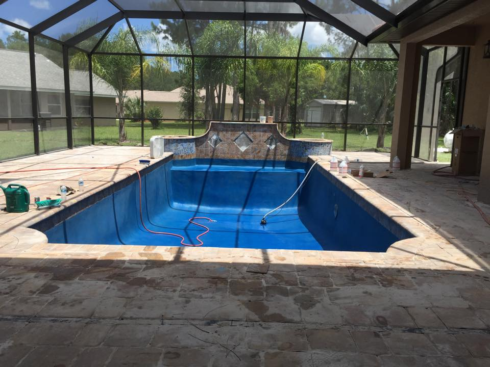 Custom in ground pool construction in Palm Coast