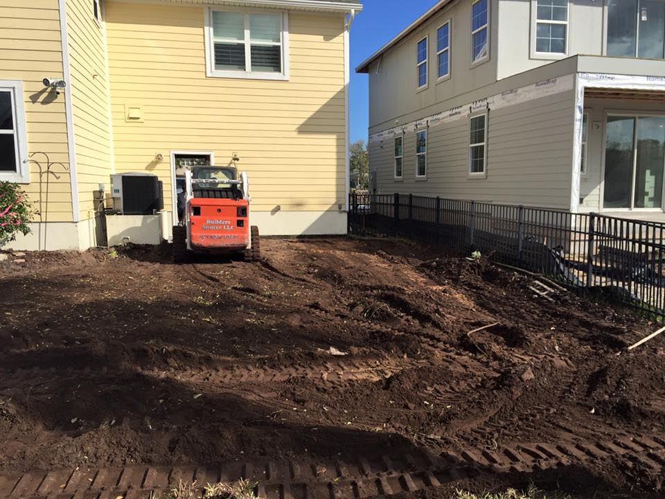 Preparing land for new pool construction in St Augustine