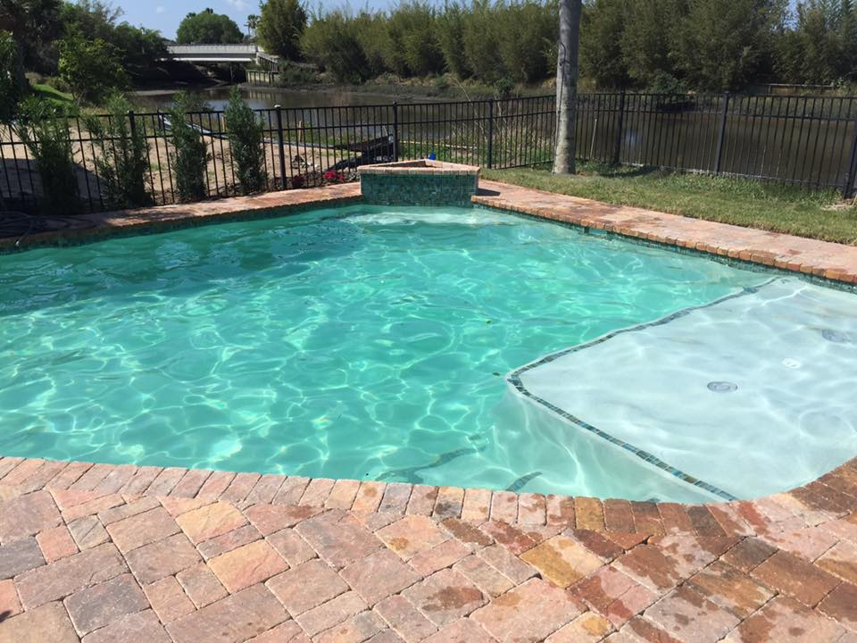 custom pool and pavers completed in st augustine