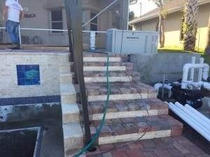 Work in progress - custom spa in C Section of Palm Coast