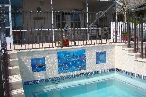 Finished work of custom spa in C section of Palm Coast
