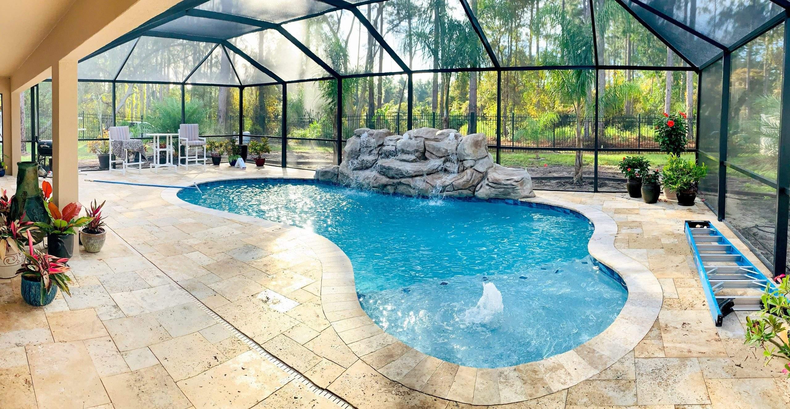Custom swimming pool in Deltona