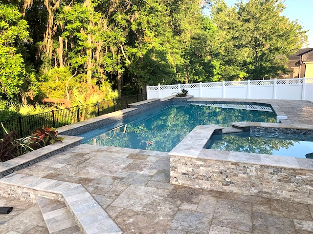 Custom swimming pool construction in St Johns