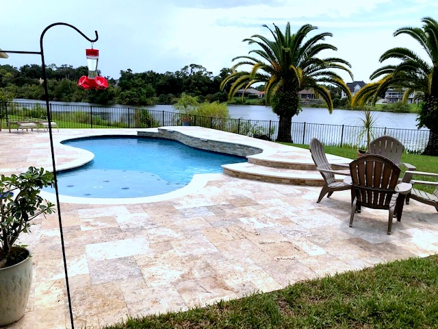 Custom swimming pool construction in Ormond Beach